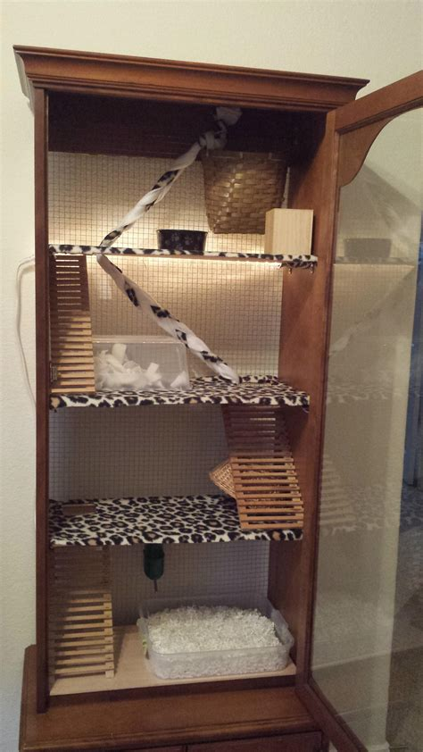 Create Your Own House Plans made a cage for my daughters rat out of a gun cabinet rats
