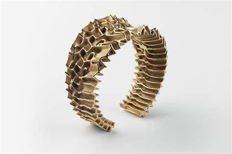 3d printer jewelry francis bitonti gold plated 3d printed mutatio jewelry