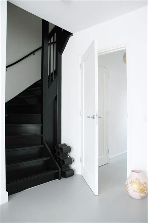 black staircase black stairs modern staircase other metro by april