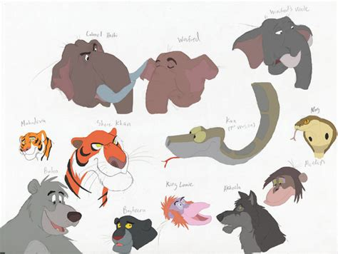 jungle book characters names and pictures the jungle stories characters by theblazinggecko on deviantart
