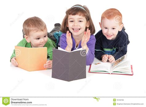 free children s books with audio and pictures happy children reading books stock image image