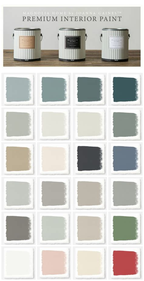 paint colors recommended by joanna gaines new magnolia home paint collection