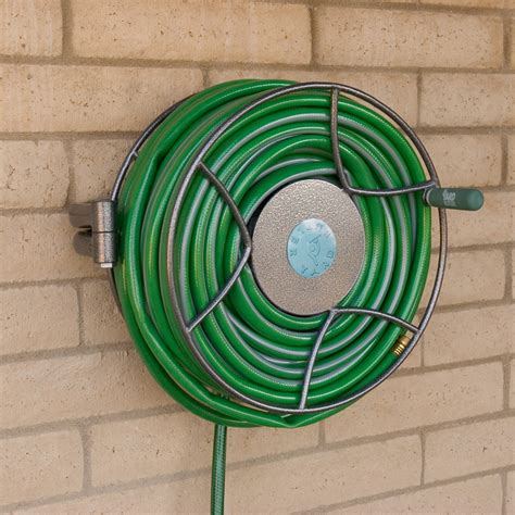metal garden hose reel wall mount wall mounted swivel reel yard butler store