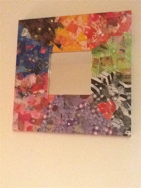 mirror craft paper decopatch mirror decopatch mirror