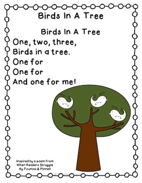 tree poems preschool apple poem names