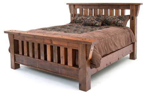 mission style bed frames barn wood mission style bed king craftsman panel beds