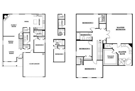 2 story floor plans with garage 2 story house plans without garage escortsea