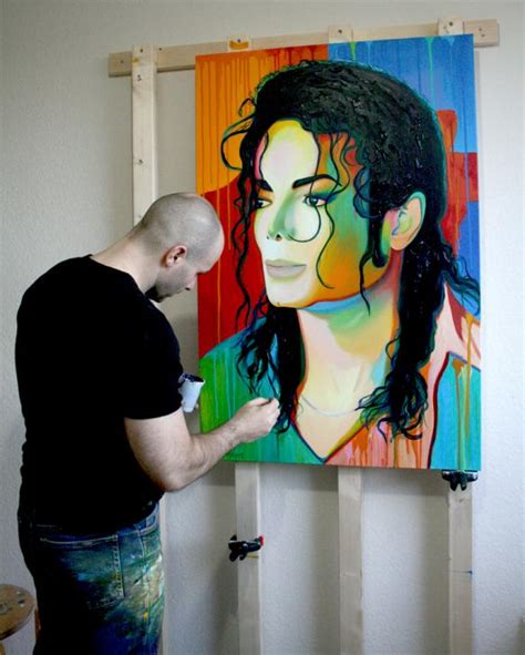 acrylic paint jackson michael jackson acrylic portrait painting by frank
