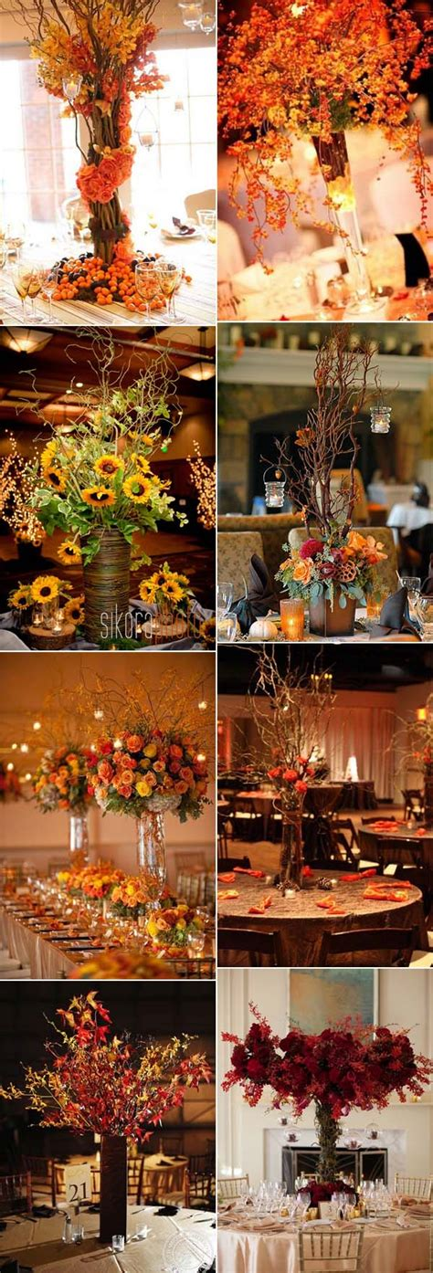 autumn wedding centerpieces for tables 46 inspirational fall autumn wedding centerpieces ideas