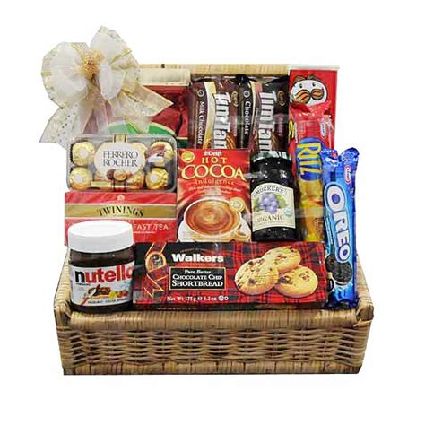 morning gift basket new years hers breakfast gift basket with tea
