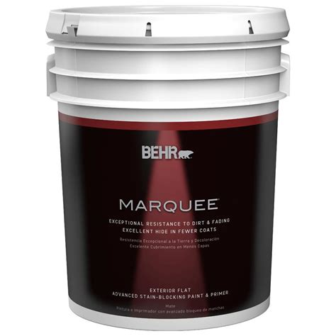 home depot 5 gallon interior paint behr marquee 5 gal medium base flat exterior paint 445405 the home depot