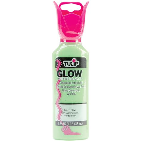 glow in the paint tulip tulip dimensional fabric paint 1 1 4oz glow in the