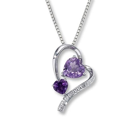 jewelry necklaces amethyst necklace accent sterling silver