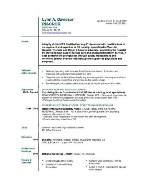 new graduate nurse resume rn sample writing resume