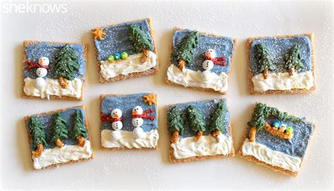 winter food crafts for turn graham crackers into edible canvases for a winter