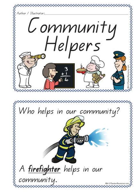picture books about community helpers community helpers concept book