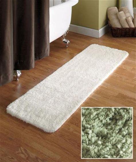 bathroom runner rugs 54 quot microfiber plush bathroom bath runner rug w nonslip