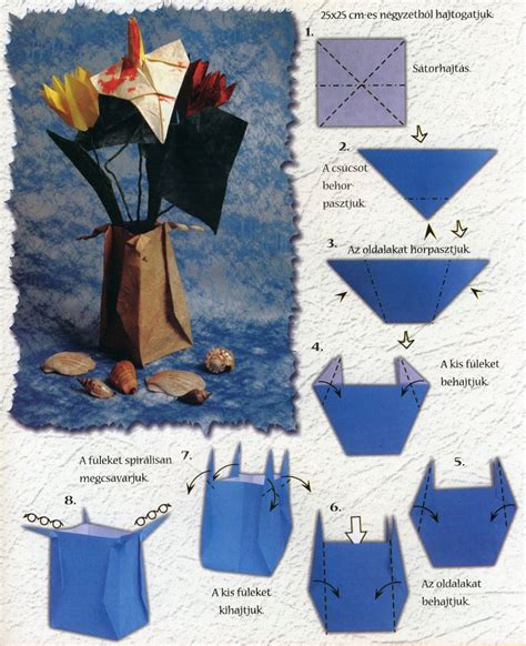 easy origami vase origami vase