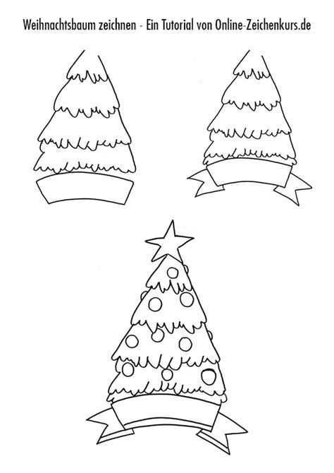 weihnachtsbaum zeichnen weihnachtliche motive zeichnen schritt f 252 r schritt