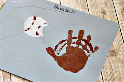 baseball crafts for handprint baseball craft family crafts
