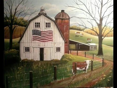 folk acrylic paint barn wood folk painting primitive folk a white barn in