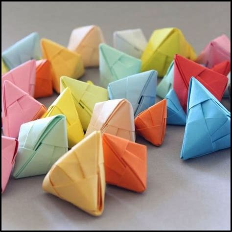 fortune cookie origami diy origami fortune cookies and shower ideas