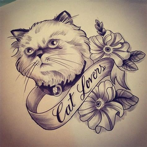 neotraditional neo traditional tattoo sketch gugo cat