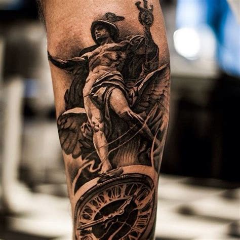 done today d tattoo bng hermes statue tattoo ideas