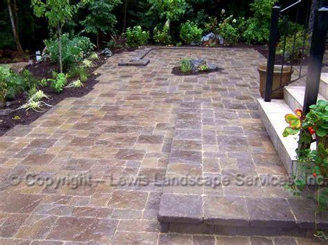 outdoor pavers for patios lewis landscape services paver patios portland oregon