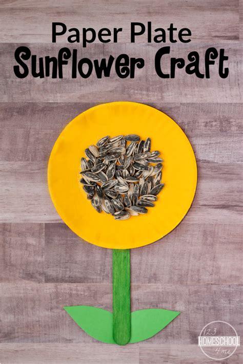 sunflower paper plate craft simple sunflower craft