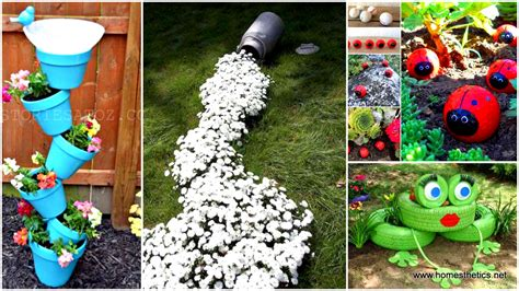 diy craft projects for the yard and garden 34 cheap diy projects to beautify your backyard landscape