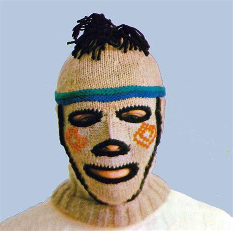 how to knit a mask vintage knitting pattern creepy balaclava ski mask helmet