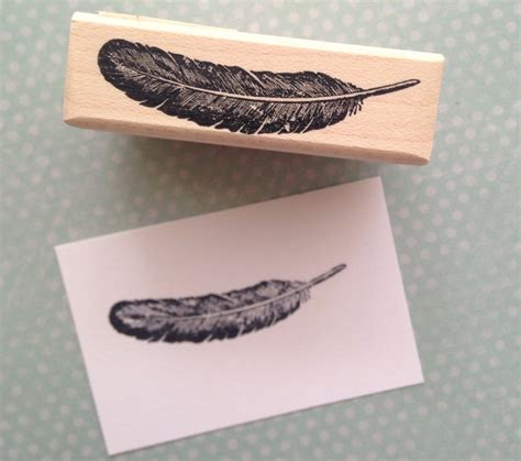 feather rubber st small feather rubber st 2073 from 100proofpress on etsy