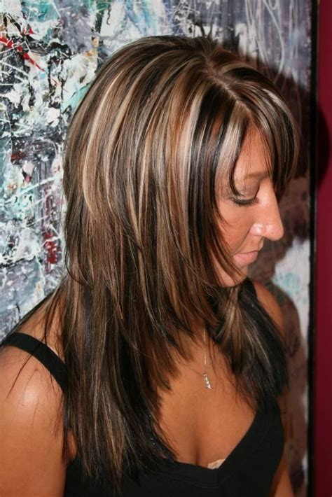 lowlights hair color pics highlights and lowlights ideas for brunettes 6 short