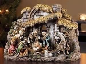 indoor nativity set with stable indoor nativity set