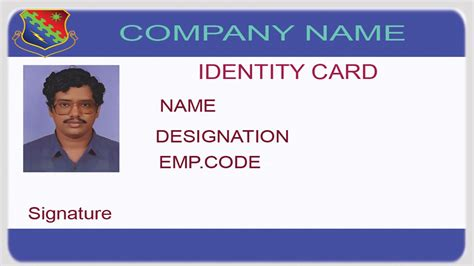how to make an identity card how to make id card using excel id cards designer