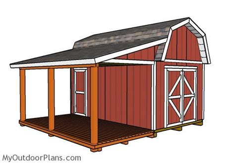 shed with porch plans free barn shed with porch plans myoutdoorplans free