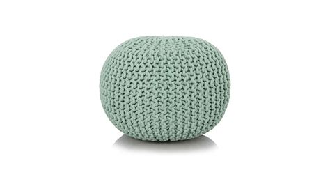 asda knitted pouffe george home duck egg blue knitted pouffe footstools