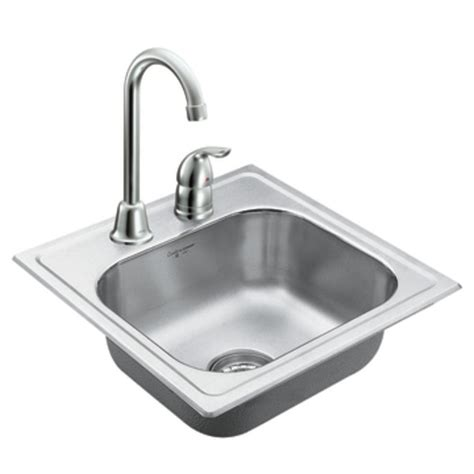 stainless steel single bowl drop in kitchen sinks moen 22240 camelot stainless steel 20 single bowl