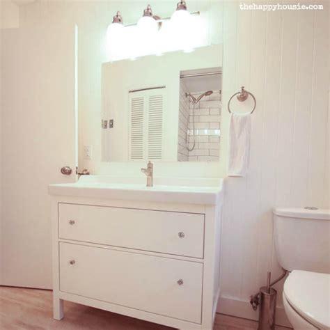 ikea bathroom vanity thrifty bathroom makeover with an ikea hemnes vanity