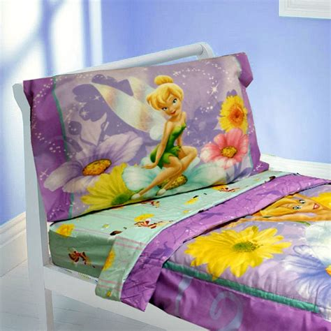 tinkerbell toddler bed set tinkerbell toddler bedding set 4pc disney flowers