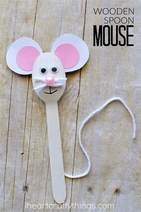 mouse craft for wooden spoon mouse craft for i crafty things