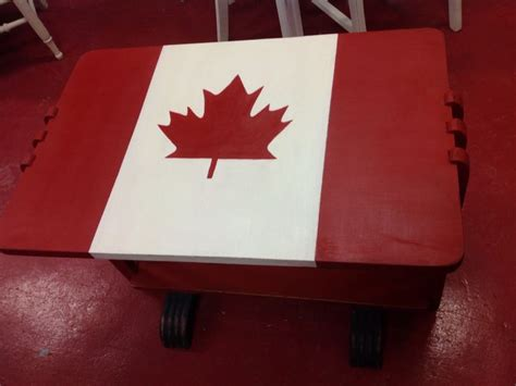 chalk paint colours canada canadian flag painted in emperors silk and white