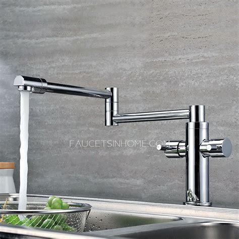 kitchen pot filler faucets high end copper rotatable folding kitchen pot filler faucets