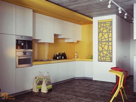 backsplash for yellow kitchen bold yellow backsplash design interior design ideas