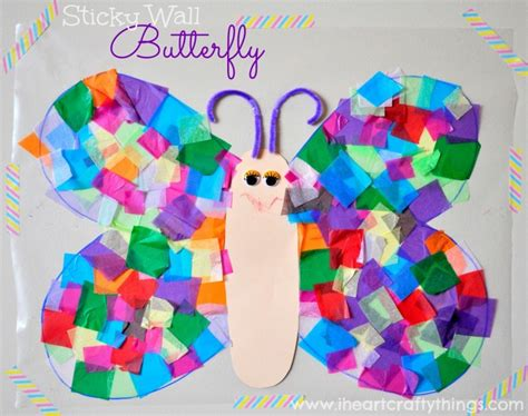butterfly craft stained glass glitter butterfly craft i