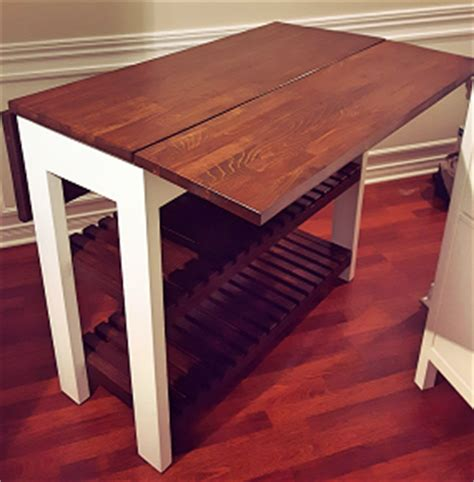drop leaf kitchen island table diy drop leaf kitchen island cart bachelor on a budget