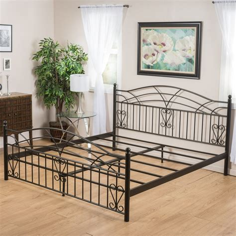 iron bed frame king edsel cal king size black finish iron bed frame great