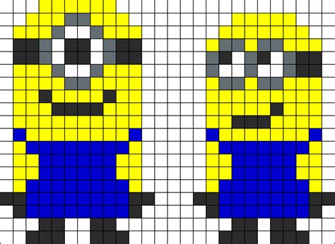 minion perler bead patterns despicable me minoins perler bead pattern bead sprites