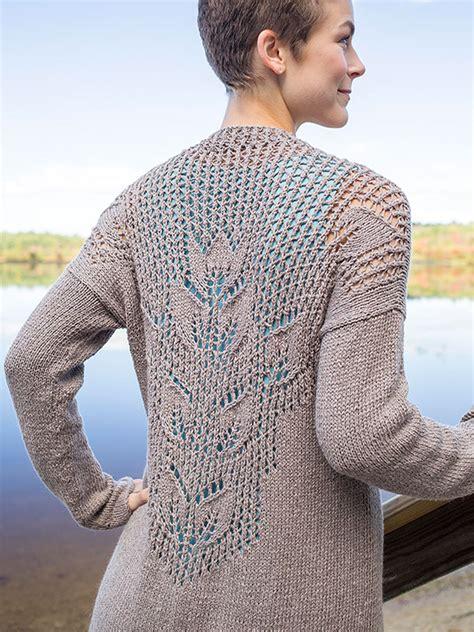 knitted lace sweater patterns mallow lace leaf cardigan free knitting pattern knitting bee